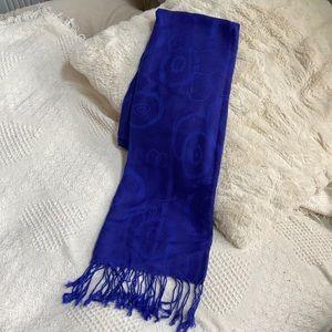Royal blue pashmina